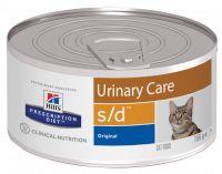 Hill's (Хиллс) Wet PD Feline s/d Urinary Care - лечебные консервы-диета со свининой для кошек при заболевании мочеполовой системы
