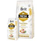 Brit Fresh Chicken with Potato Adult Great Life - сухой корм со свежей курицей, картофелем, гречкой, яблоком и тимьяном для взрослых собак всех пород