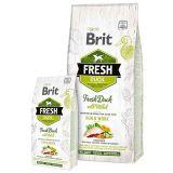 Brit Fresh Duck with Millet Adult Run & Work - сухой корм с уткой, просом, цуккини, шпинатом и календулой для взрослых активных собак всех пород