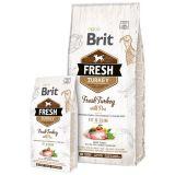 Brit Fresh Turkey with Pea Adult Fit & Slim - сухой корм с индейкой, горохом, рисом, аронией и одуванчиком для взрослых собак с избыточным весом, пожилых и ведущих малоподвижный образ жизни собак всех пород
