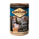 Carnilove Dog k 400 g с лососем и индейкой