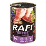 Dolina Noteci Rafi Grain Free with Rabbit Беззерновые консервы для собак с кроликом голубикой и клюквой