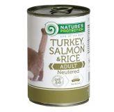 Nature's Protection Neutered Turkey, Salmon&Rice Консерва влажный корм для стерилизованных котов и кошек с индейкой, лососем и рисом