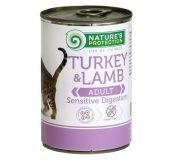 Nature's Protection Sensitive Digestion Turkey&Lamb Консерва влажный корм с индюшатиной и мясом ягнят для взрослых кошек с чувствительным пищеварением