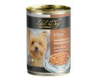 Edel Dog Консервы для собак Кусочки с индейкой и печенью в соусе