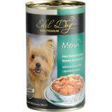 Edel Dog Консервы для собак Кусочки с кроликом и рисом в соусе