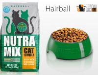 Nutra Mix Hairball Formula сухой шерстевыводящий корм для взрослых кошек профилактика мочекаменной болезни
