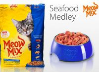 Meow Mix Seafood Medley сухой корм для взрослых кошек с рыбой и морепродуктами