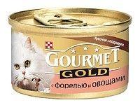 Gourmet Gold (Гурмет Голд ) корм консервы для кошек кусочки в подливке с форелью и овощами
