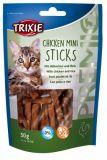Лакомство для кошек PREMIO Chicken Mini Sticks с витаминами Трикси 42708